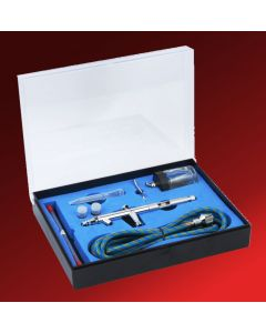 Double Action Bottle Feed Airbrush Kit with 3 sets of Nozzles/Needles BD182K Model