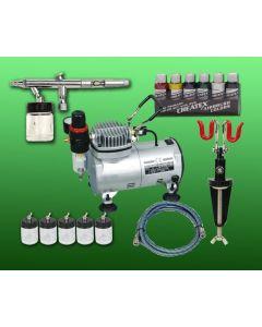 Basic Airbrush Compressor Combo set 3