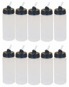 4 oz tall airbrush bottles 10pcs/set BD08