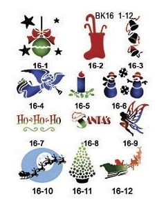 CHRISTMAS STENCILS SET #1