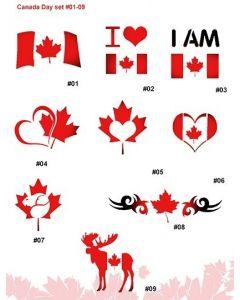 CANADA DAY STENCIL SET