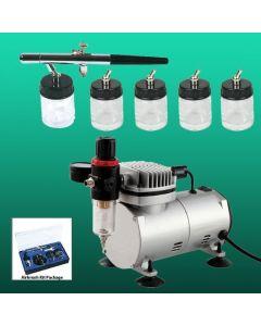 Basic Airbrush & Compressor Hobby Set