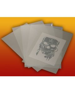 "HAZY MYLAR 10 SHEET STENCIL MATERIAL FOR AIRBRUSH DESIGN CRAFT  8.5"" X 11"""