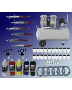 Paasche Multiple Airbrushes Production Set