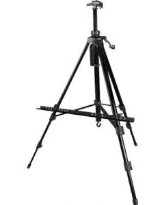 ARTIST PORTABLE BLACK ALUMINUM FOLDING EASELS CARRYING CASE FOR PAINTING DISPLAY