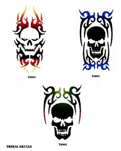 THREE SKULLS STENCILS SET