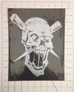 SKULL WITH 2 PIKES