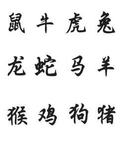 CHINESE ZODIAC STENCILS SET